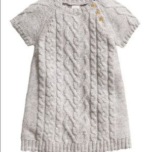 Gray H&M baby girl sweater dress. 12-18 months